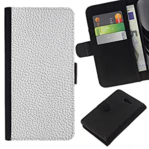 - DESIGN PATTERN WHITE INTERIOR TEXTILE TEXTURE - - Prima caja de la PU billetera de cuero con ranuras para tarjetas, efectivo desmontable correa para l Funny House FOR Sony Xperia M2