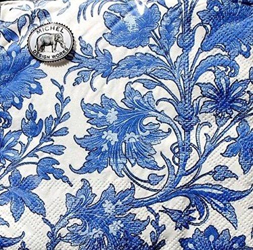 Michel Design Works Cocktail Beverage Napkins ~ China Blue Set of (Blue Cocktail Drinks)