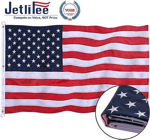 TOUGH-TEX 2740 US Flag,6x10 Ft,Polyester