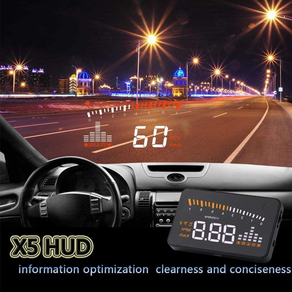 Amazon Com Heads Up Display For Car Car Truck Obd Ii Hud Head Up Display Color Led Projector Speed Warning System Car Electronics