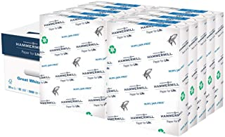 product image for Hammermill Printer Paper, Great White 100% Recycled Paper, 8.5 x 11-10 Ream, (5,000 Sheets) - 92 Bright, Made in the USA