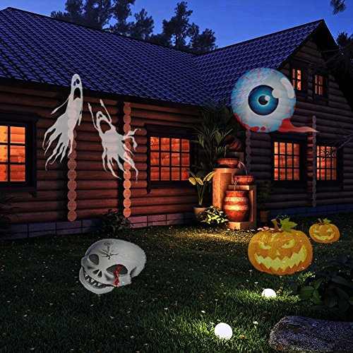 Beisaqi Christmas Projector Lights Outdoor Holiday Light Garden Projector Laser Lights Led Landscape Spotlight for Home Decoration Birthday Party (15 Pattern with Remote Control) by Beisaqi (Image #6)