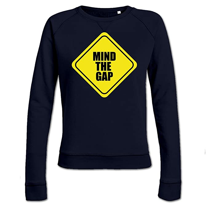 Sudadera de mujer Mind The Gap Warning by Shirtcity: Amazon.es: Ropa y accesorios