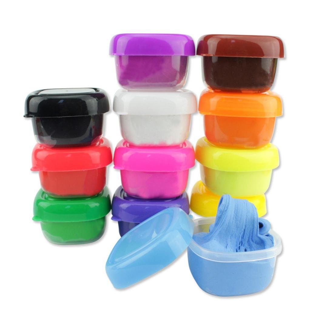 Juguetes Apretados, ❤️Xinantime 12 colores Floam Slime Scented Stress Relief Toys Ningunos juguetes de los lodos de juguete de los niños de Borax juguete ...