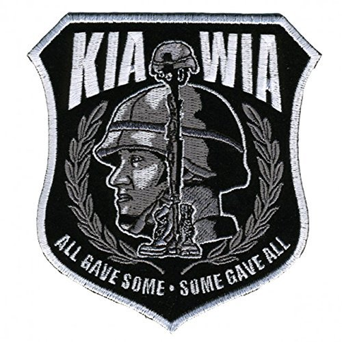Hot Leathers, ALL GAVE SOME; SOME GAVE ALL, High Quality Iron-On / Saw-On Rayon MILITARY KIA MIA PATCH - 4