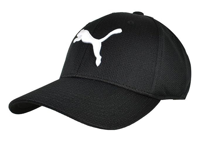 cheap for discount b7dd6 b462c PUMA Evercat Mesh Stretch Fit Hat Black Size Small Medium