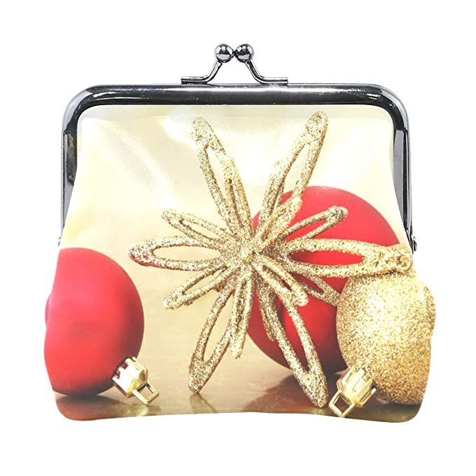 3c77a4cde749 Coin Purse Golden Christmas Ornaments Womens Wallet Clutch Bag Girls ...