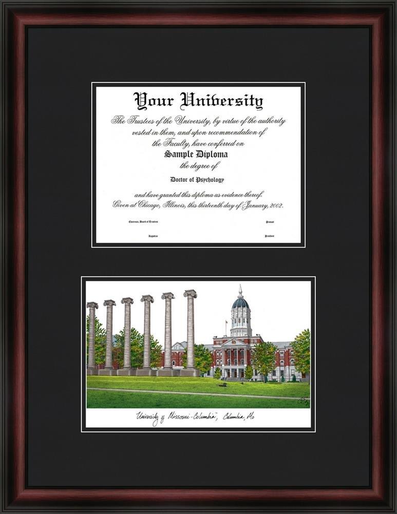 Amazon.com : Missouri Tigers Mizzou Diploma Frame & Lithograph Print ...