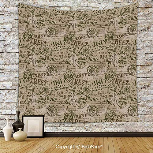 - FashSam Tapestry Wall Blanket Wall Decor Nostalgic Military Pins from Different Countries Uniform Army Style Graphic Decorative Home Decorations for Bedroom(W39xL59)