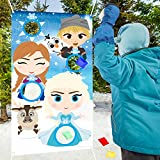 PANTIDE Frozen Toss Games with 4 Bean Bags, Xmas Party Games Toss Games Banner for Kids&Adults, Frozen Indoor Outdoor Throwing Game Party Supplies for Birthday Party Decoration Thanksgiving Day