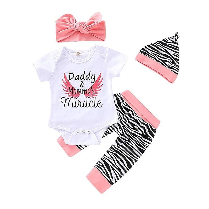Neugeborene Jungen Mädchen Baby Hause Strampler Hose 3pcs Outfits Set Kleidung