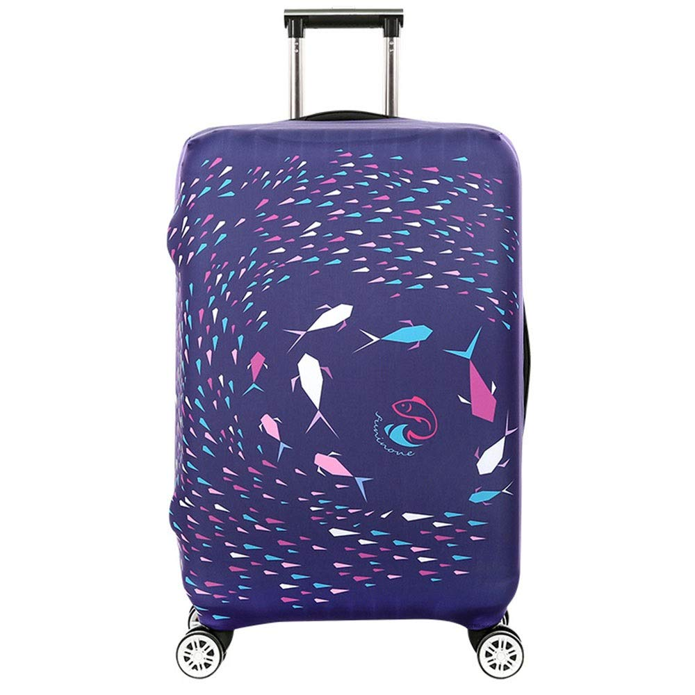 18-21 Color : D, Size : S Yuybei-Bag Luggage Cover Anti-Scratch 3D Print Travel Luggage Cover Rainproof Elastic Suitcase Protector Fits 18 to 32 Inch Luggage Travel Luggage Sleeve Protector
