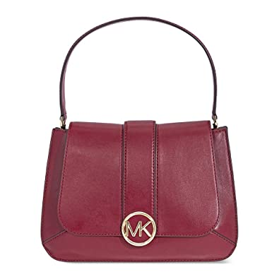 3b2c0dde1203 Michael Kors Lillie Medium Leather Shoulder Bag- Oxblood  Handbags   Amazon.com