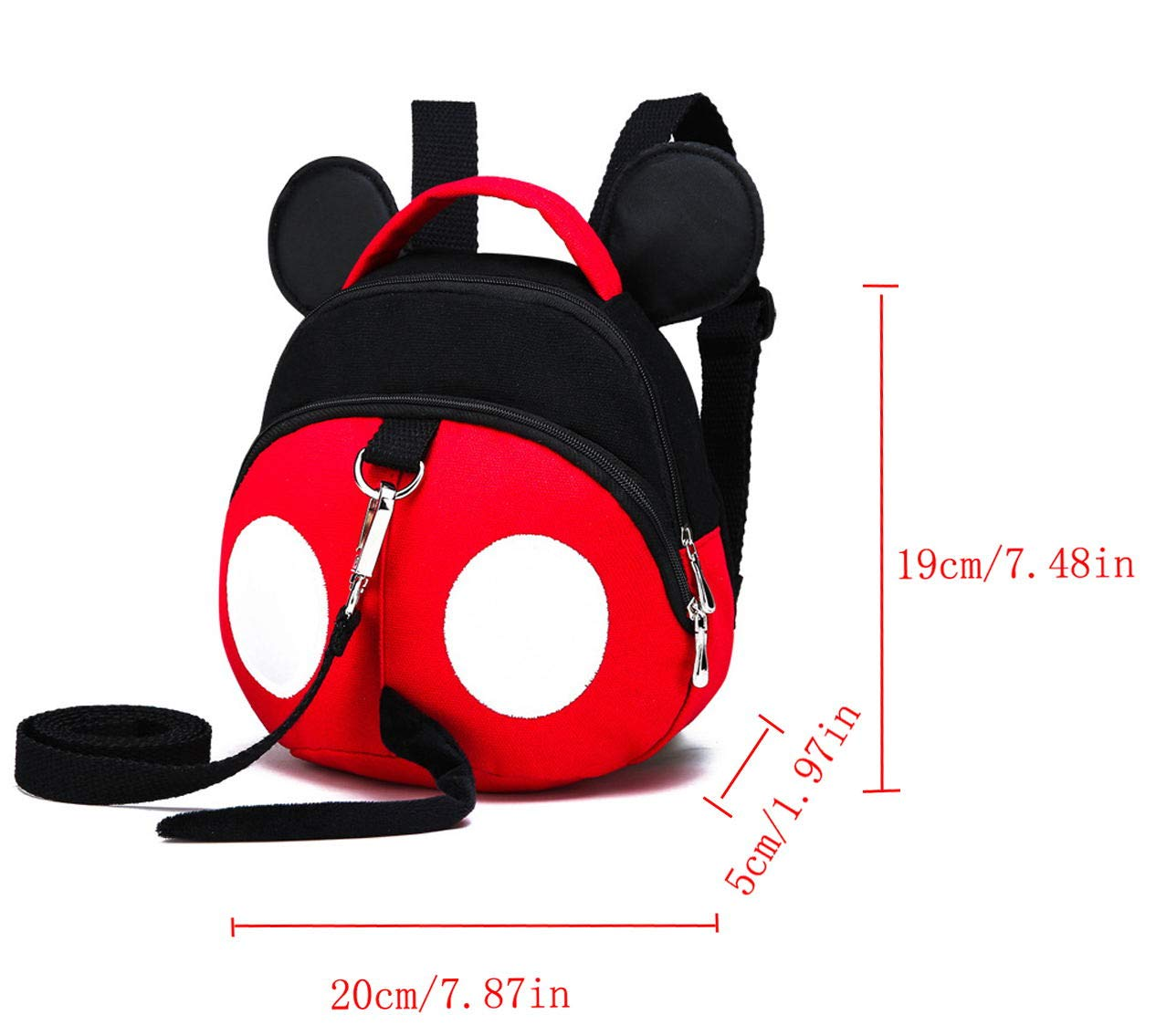 Baby Anti-Lost Harness, Yimidear Purified Cotton Toddler Backpack with Safety Leash for Babies & Kids Boys and Girls by Yimidear (Image #6)