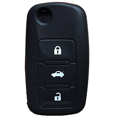 KAWIHEN Silicone Key Fob Cover Case Protector Smart Remote Control Shell Keyless Entry Case Holder Cover For 3 Button Volkswagen Bettle Golf Jetta Passta: Automotive