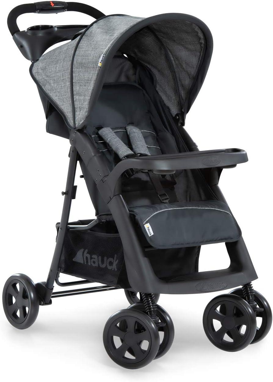 Hauck Shopper Neo II, silla de paseo con posiciones, plegado facil y compacto, plegado con una sola mano, ligera, desde nacimiento hasta 25kg, con botellero, gris (grey/charcoal)
