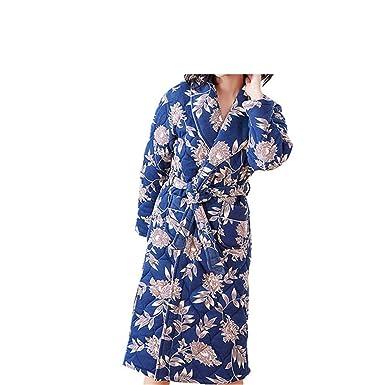 Mmllse Mujeres De Invierno De Tres Capas Gruesas De Algodón Cálido Bata Larga Albornoz Noche Pijamas Lindo: Amazon.es: Ropa y accesorios