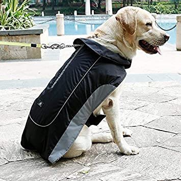 cd5d75f22fd9 UsefulThingy Dog Rain Coats for Small Medium or Large Dogs - Rain Jacket  with Reflective Stripes