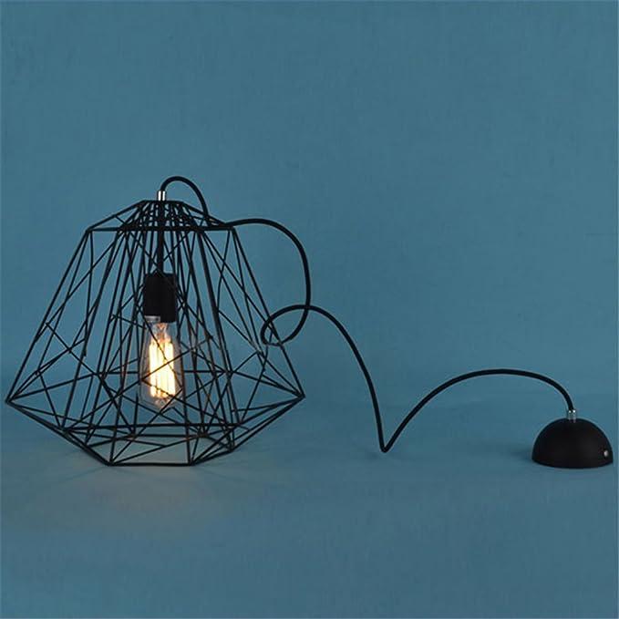 InTheHouse Käfig-Design Pendelleuchten, retro Edison Industrie-Stil ...