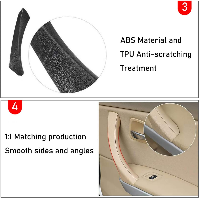 cubierta Compatible con: BMW 323325328330335 Sedan /& Touring lado del pasajero trasero derecho y cubierta de manija de puerta TTCR-II para BMW Serie 3 E90 // E91 Correa de manija de puerta
