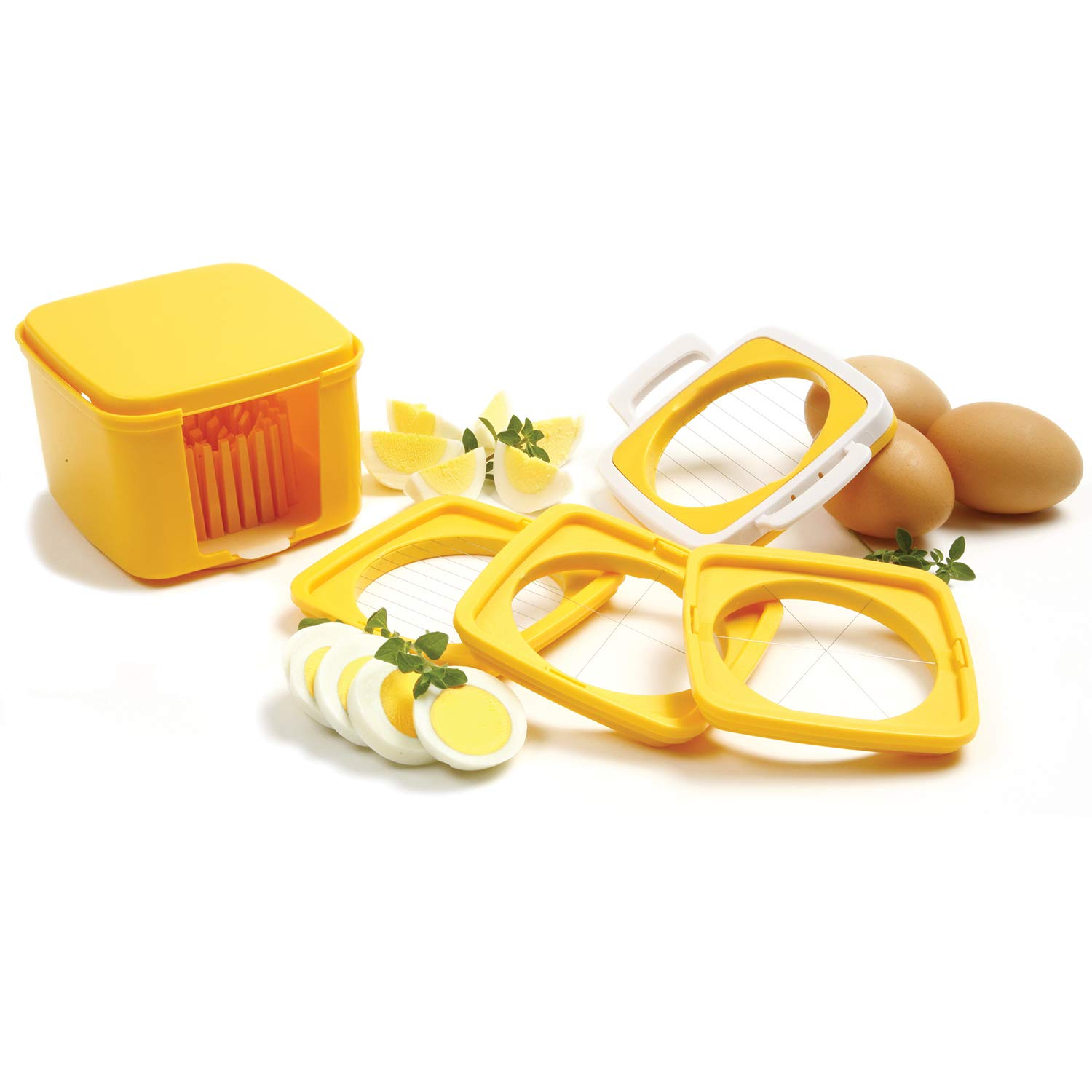 Norpo Yellow 5 Piece Egg Slicer Set with Storage Case by Norpro