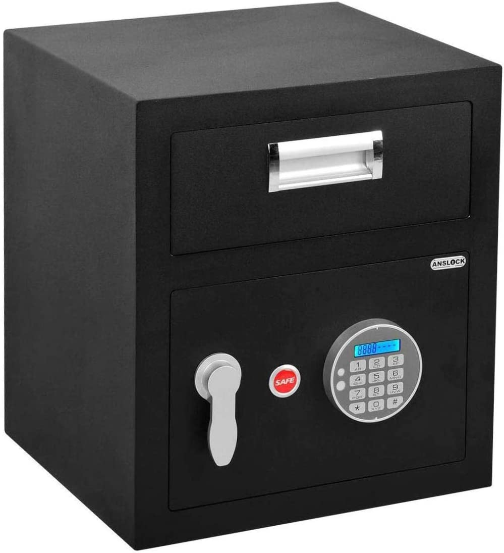 Amazon Com Anslock Digital Security Home Safe 1 6 Cubic Feet Keypad Depository Safe Drop Slot Safes Security Storage Digital With Drop Box Slot Home Improvement