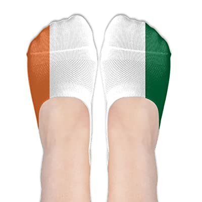 Flag Of Cote D'IvoireWomen Girls Thin Casual Non Slip Colorful Shoe Sock Flats Boat Line Socks Novelty Fun Flat No Show Liners