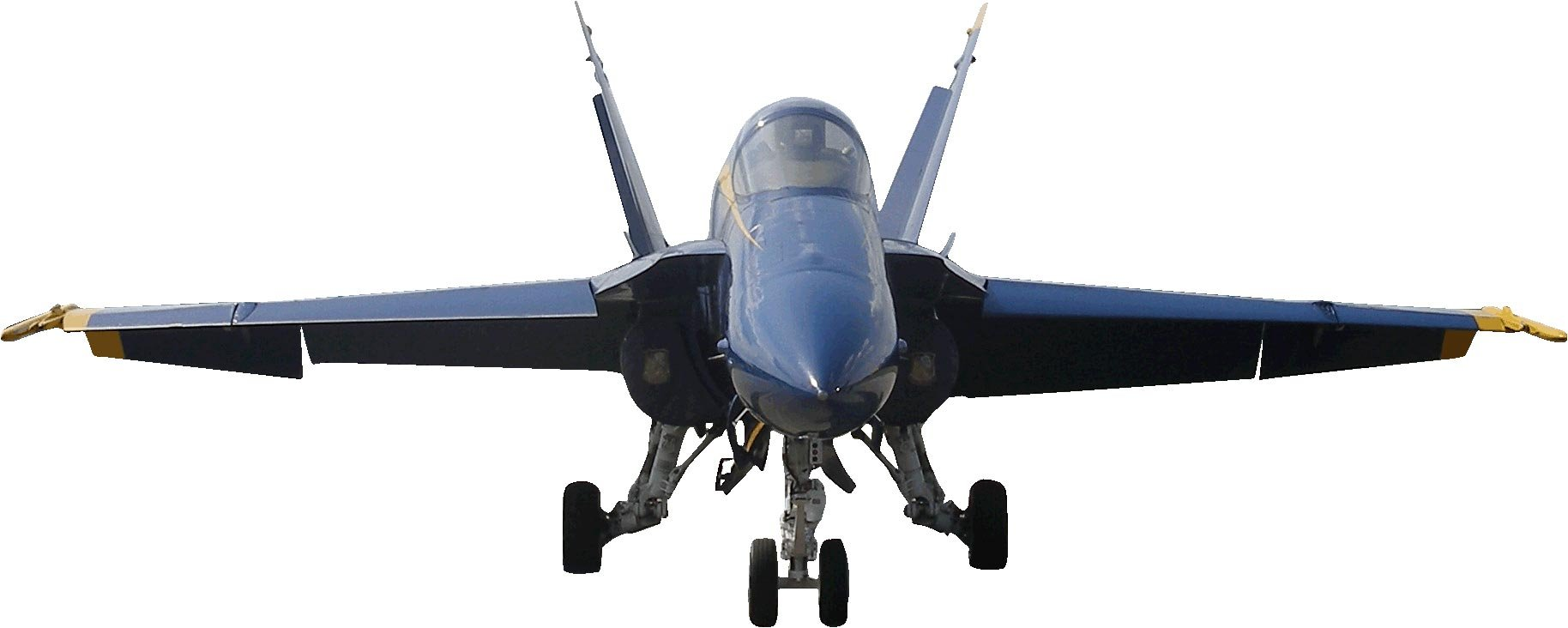 US Navy ''Blue Angel'' F-18 Hornet Cutout (Nose View) 29''x72''