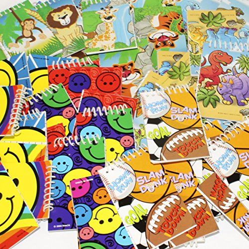 Play Kreative Mini Spiral Notebook, Notepads Smile, Zoo, Sports Party Favors. Dental, Teacher Classroom Rewards TM