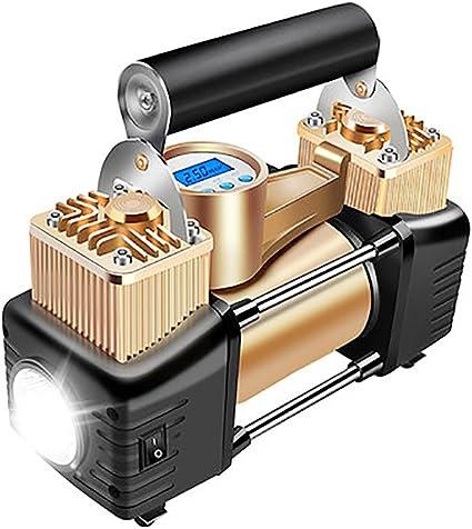 Q&F Compresor De Aire Portatil Bomba De Compresor De Aire,Preset Inflador De Neumáticos Digital 12v Dc Para Coches Motos Bicicletas: Amazon.es: Coche y moto