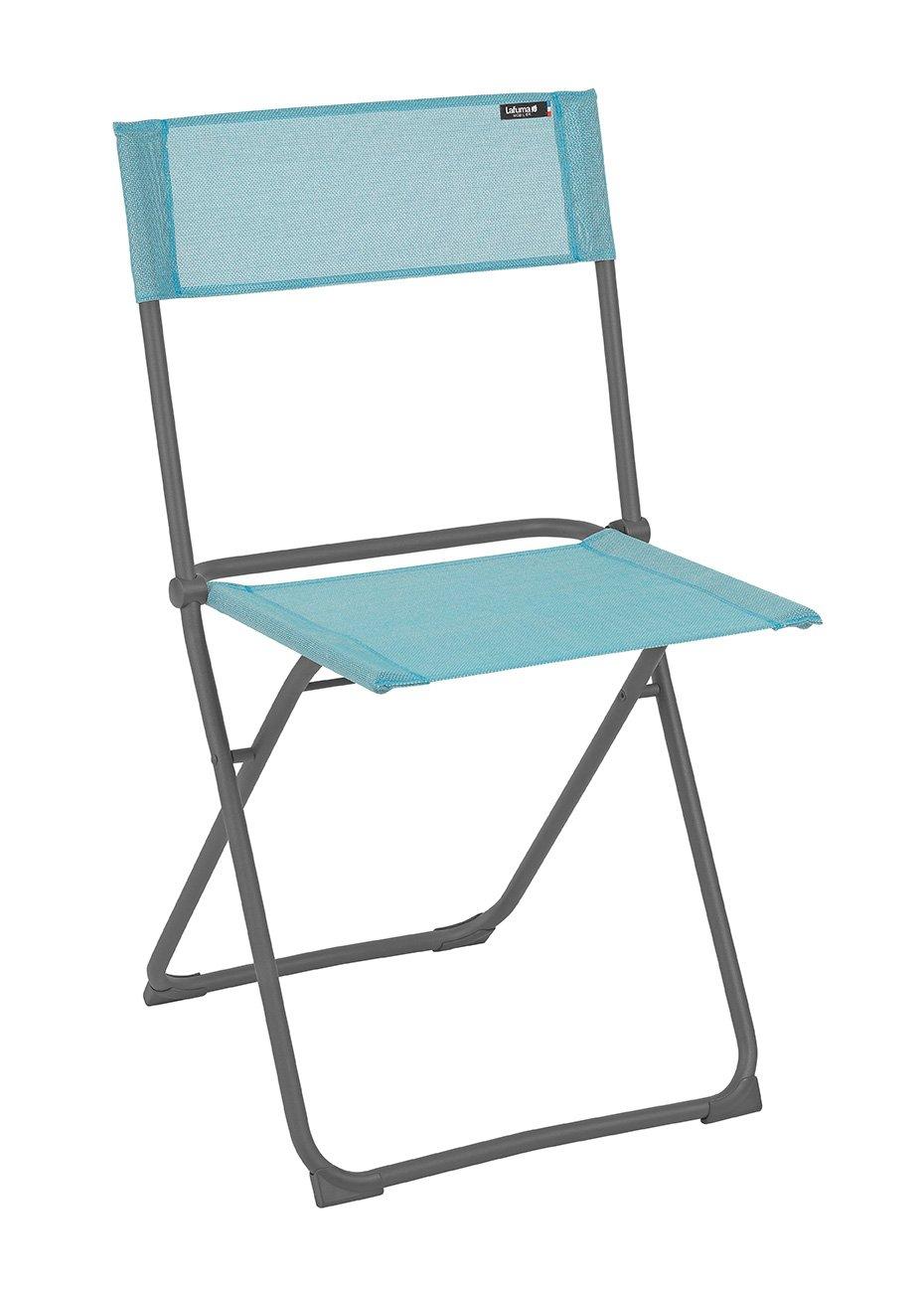 Lafuma Kompakter Klappstuhl, für Terrasse, Garten und Balkon, Batyline, hellblau