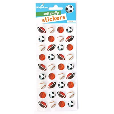 Playhouse Play Ball! Mini Soft Puffy 36-Piece Sticker Sheet: Arts, Crafts & Sewing