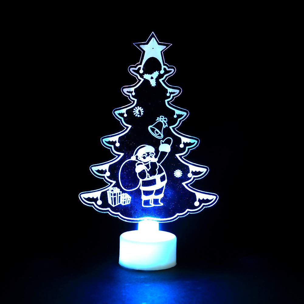 Gbell Christmas Colorful Butterfly LED Night Light Decorations Kids Colorful Apple Christmas Tree Eiffel Tower Shape Xmas Light Boys Girls Room Party Dining Room Restaurant Hotel Decor