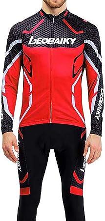 Jersey de ciclismo, pantalones de ciclismo Ropa de deporte de poliéster para hombre Ropa deportiva Pantalones de bicicleta acolchados para bicicleta de carretera MTB Deportes al aire libre,8,XXL: Amazon.es: Hogar