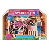 T.S. Shure Stable Pals Becca & Beauty Wooden Magnetic Dress-Ups