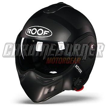 Casco para moto Roof Boxer V8 Bond Flip Front, Matt Titanium Black
