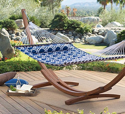 Prugist TropiRest 13 ft. Hampton Lattice Quilted Hammock with Russian Pine Stand