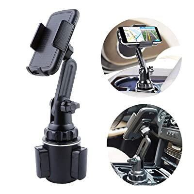 Cup Holder Phone Holder iPhone, Universal Adjustable Automobile Cup Holder Cradle Car Mount for iPhone 11 Pro/XR/XS Max/X/8/7 Plus/Samsung S10+/Note 9/S9/ S8/S8 Plus/S7 EDG