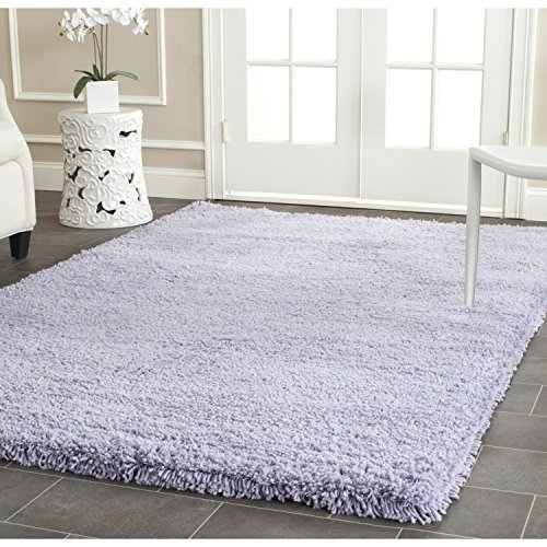 Safavieh Ultra Classic Shag Collection SG140L Handmade Lilac Area Rug (2' x 3') - Lilac Accent