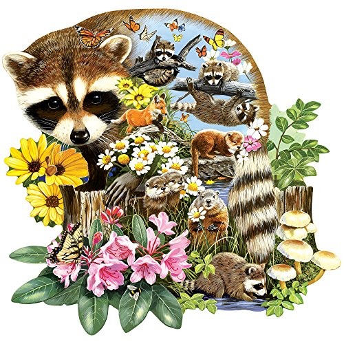 Bits and Pieces - 750 Piece Shaped Jigsaw Puzzle for Adults - Raccoon Cub - 750 pc Animals Jigsaw by Artist Jack Williams