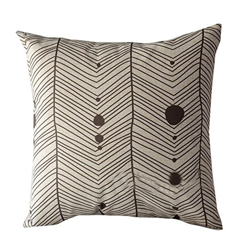 Fitted Thomasville Sheet (Weiliru Black &White Stripe Pillow Cases Soft Linen Square Decorative Throw Cushion Cover Pillowcase with Hidden Zipper for Sofa - 18''×18'')