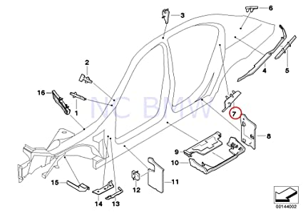 Amazon Com Bmw Genuine Front Molded Part Column C Automotive