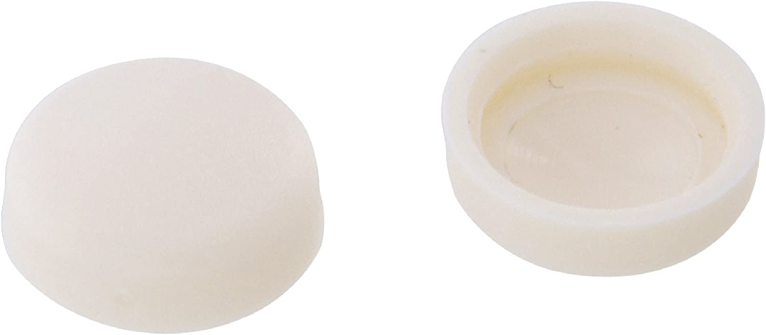 The Hillman Group 59024 Screw Cover Number 4-6 White Plastic 30-Pack