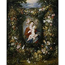 'Rubens Peter Paul Brueghel The Elder Jan La Virgen Y El Nino En Un Cuadro Rodeado De Flores Y Frutas 1617 20 ' Oil Painting, 8 X 10 Inch / 20 X 26 Cm ,printed On High Quality Polyster Canvas ,this Cheap But High Quality Art Decorative Art Decorative Prints On Canvas Is Perfectly Suitalbe For Home Office Gallery Art And Home Decor And Gifts