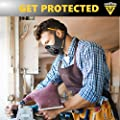 FIGHTECH Anti-Pollution Dust Mask with 2 Valves and 4 Activated Carbon N99 Filters. from TRUSTED CONNECTION
