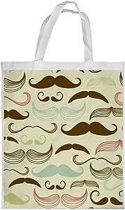 Men's mustache Printed Shopping bag, Large Size