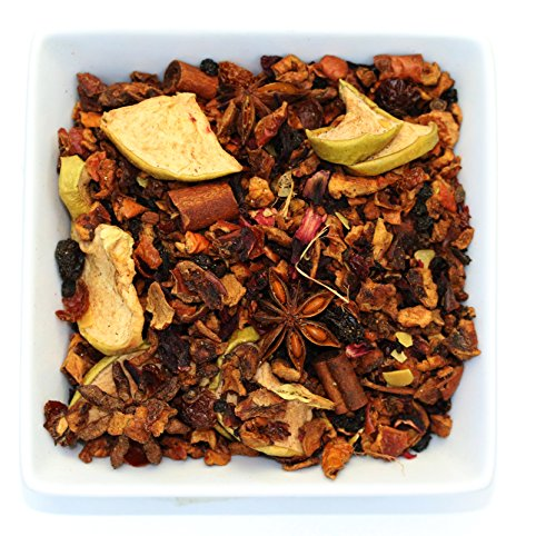 Tealyra - Spiced Apple Cider - Hibiscus - Cinnamon - Almonds - Warm Herbal Fruity Loose Leaf Tea - Caffeine Free - 112g (4-ounce) Almond Apple Tart