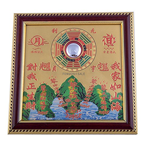 All-round Taoist Feng Shui Protective Talisman Bagua Mirror Pakua + Free Red String Bracelet G9004