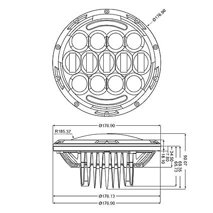 Amazon Com Lumen 7in Round Projector Led Headlights