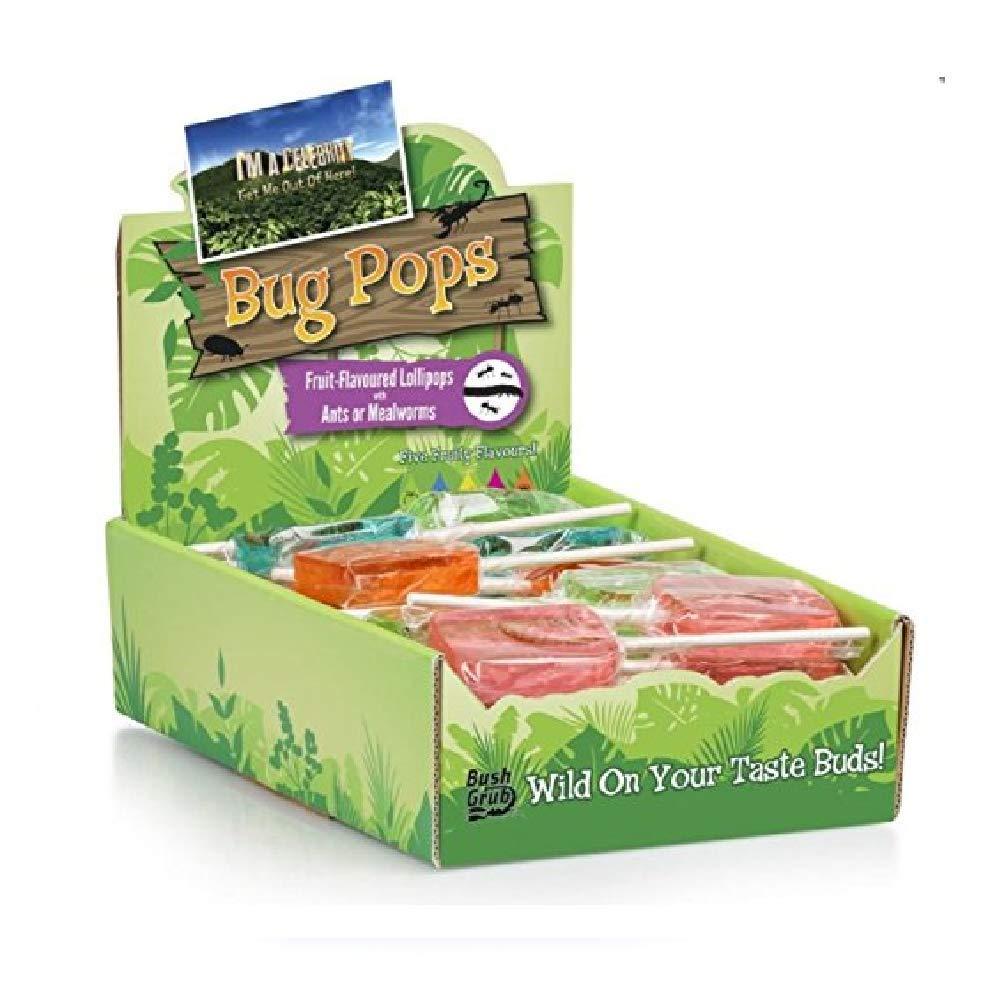 I`m A Celebrity Bush Tucker Trial BUG POP Edible Food Lollipop Challenge TV Show